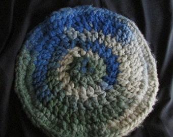 Round alpaca rug