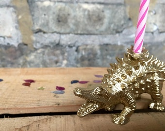 Dinosaur BIRTHDAY candle holders