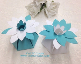Turquoise Favors Turquoise Favor Box Flower Favor Boxes Flower Favors Flower Favour Boxes Flower Favours White And Blue 30 Included