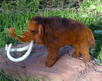 Wooly Mammoth Bull Elephant Needle Felted Animal  by Carol Rossi Created Just For You!