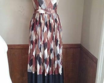 Vintage 1950s 50s Long maxi dress
