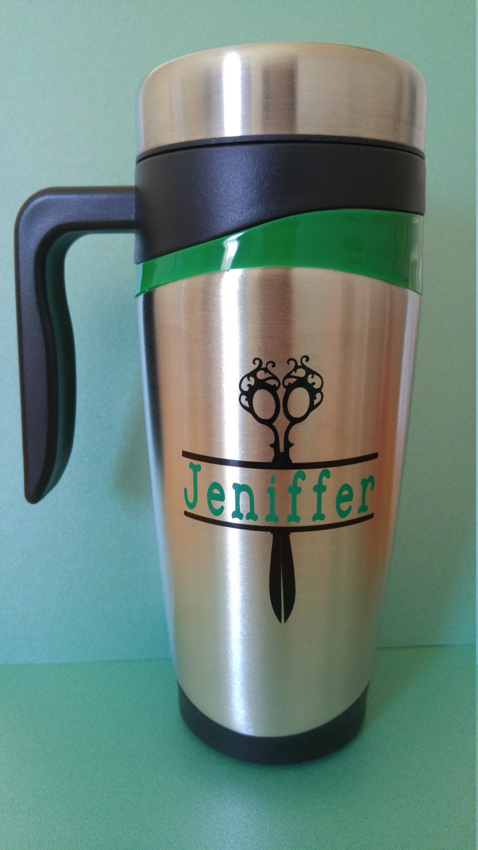 hairstylist travel coffee mug career mug 16oz personalized. Black Bedroom Furniture Sets. Home Design Ideas