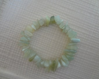 Stretch Bracelet - Sea Green Jade bracelet- gemstone bracelet - sea green jade chips - jade jewelry - gemstone jewelry