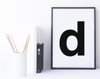 Quote Print and/or Frame - Letter 'd'