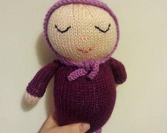 Custom Baby's First Doll Knitting Joy