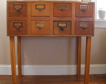 Antique Globe Library Card Catalog File, Library File, Card Catalogue, Card File