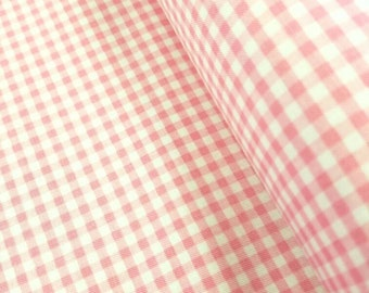 Baby Pink Gingham - 1/8 inch stripes - Riley Blake Designs
