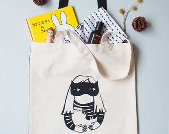 Wallflower Series: Cat Lady Tote Bag