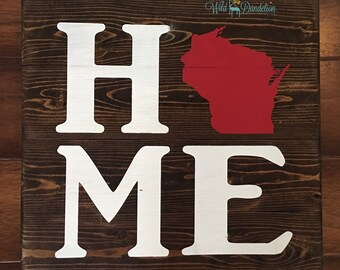 """WI Sign, these signs can be made in any state  18""""x18"""" wood signs"""