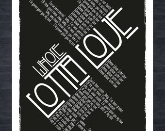 Led Zeppelin - Whole Lotta Love - Lyrics print