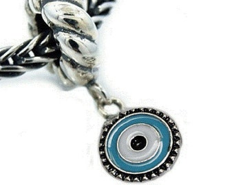 Evil Eye Dangle Charm Bead For snake charm bracelets