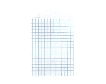 GRID PAPER BAGS (Set of 12) - Blue Graph Grid Pattern (11.3cm x 7.2cm)