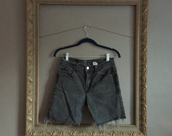 black denim cutoff shorts