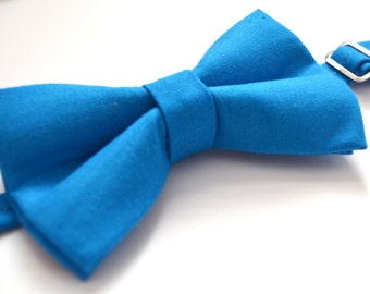 Malibu Blue Bow Tie For baby/Toddler/Teen/Adult/with Adjust strap/Clip on