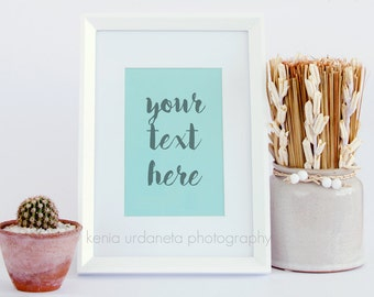 Cute Picture Frame Styled Stock Photography