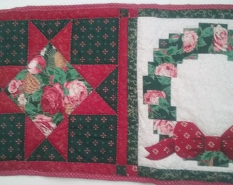 Quilted Table Runner, Christmas Table Runner, Home Decor, Quilted Christmas Decoration, Table Runner