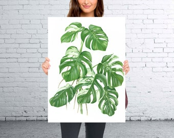 Tropical Leaf Print, Monstera Print, Printable Art, Palm Art Print, Minimalist Art, Textured, Instant Download, Wall Decor *245*