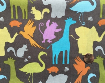 Half Yard - Central Park by Kate Spain for Moda - 27062-16 - Zoo in Stone