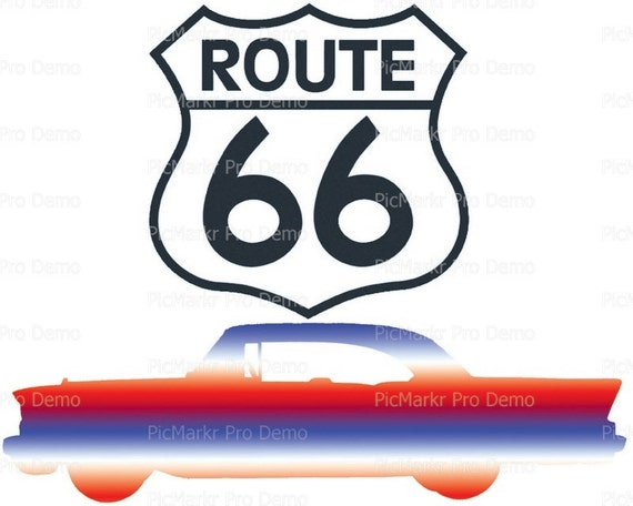 Route 66 Birthday - Edible Cake and Cupcake Topper For Birthday's and Parties! - D21537