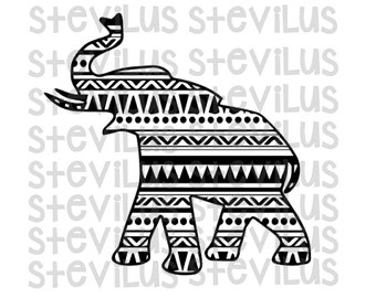 Aztec Elephant SVG | Cricut, Cameo, Silhouette, Vinyl | Personal & Commercial Use