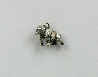 Sterling Silver 3-D Gorilla Charm