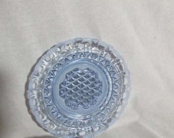 Imperial Katy blue opalescent under saucer plate