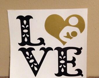 Love breastfeeding decal