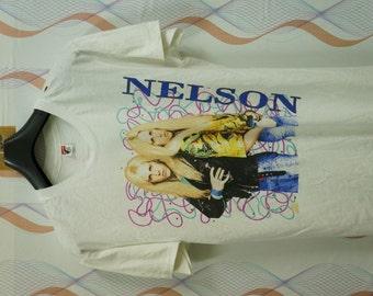 Vintage 90s Nelson Twins After The Rain Tour 1991 1992 rock T shirt Size Xlarge Xl