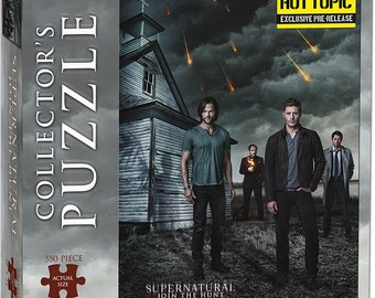 Supernatural Join the Hunt 550-piece Collector's Puzzle by USAopoly - Hot Topic Exclusive Pre-Release - Sold Out