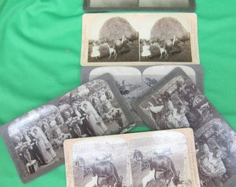 Underwood & Underwood Sterescope (Stereoview) Picture Cards (6)