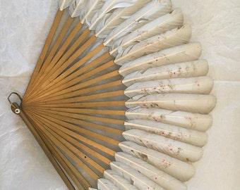 Vintage Feather Fan (c. 1954)