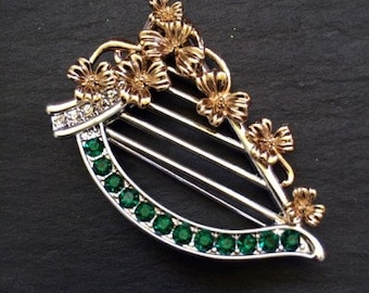 Irish Harp Brooch