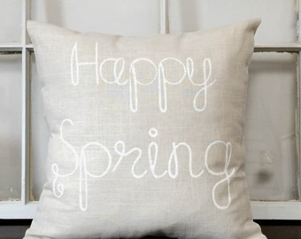 Happy Spring Pillow