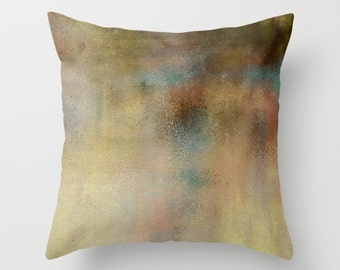 Throw Pillow Cover, Brown, Teal, Green, Accent Pillow Cover, Cushion Cover, Decorative Pillow Cover