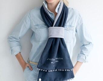 Headscarf mid-season Youpla: model Alizée (Spring 2)
