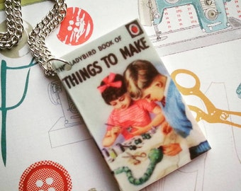 Ladybird Book Of Things To Make charm necklace