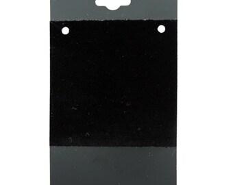 """Hanging Necklace Card Black 2 x 4"""" """"PLAIN"""" (Pkg of 100)  (DCH800)"""