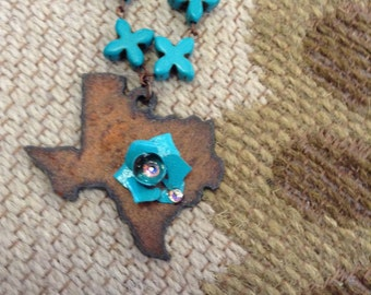 Texas Turquoise Twister Necklace
