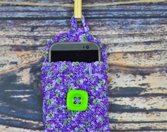 Phone- Glassses- Case- Holder- Purple- Green