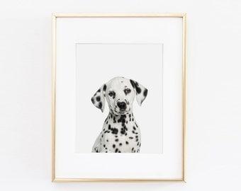 Dalmatian Dog Nursery Art Print | Dog Wall Art | Nursery Printable | Nursery Wall Art | Dog Art Print | Dalmatian Puppy Nursery Art |