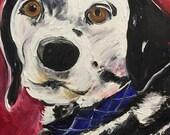 "Custom Pet Portrait Oil Painting 11"" X 14"" - Includes Internal Frame, Painted Edges"