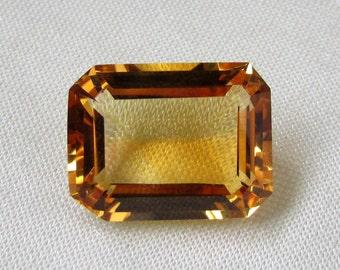 15x20 mm OCTAGON Natural genuine GOLDEN CITRINE Octagon top cut faceted gemstone.....
