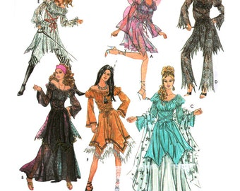 Simplicity Sewing Pattern 5363 Misses' Costumes - Fairy, Indian, Butterfly, Pirate  Size:  HH  6-8-10-12  Uncut