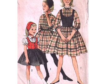 Simplicity Sewing Pattern 3607 Girl's Dress, Weskit, Hat - estimated vintage 1950's  Size:  8  Used