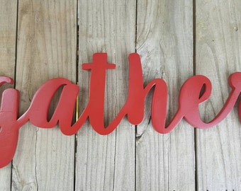 Wooden gather sign,kitchen decor, wall hanging,home decor,wall decor