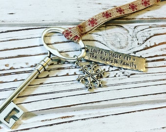 Santa's Magic Key, Hand stamped and personalized
