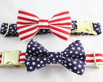 "Dog collar ""The Stars and Stripes"" variations"