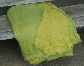 Linen Blanket Double woven linen fabric / linen throw blanket / linen bedding / linen bed cover, linen bedspread, Big Size 110x110