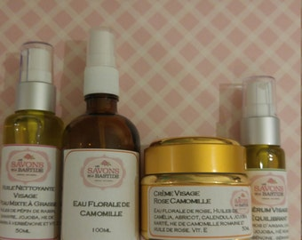 The range Rose Chamomile complete formulas! Mixed to oily skin...