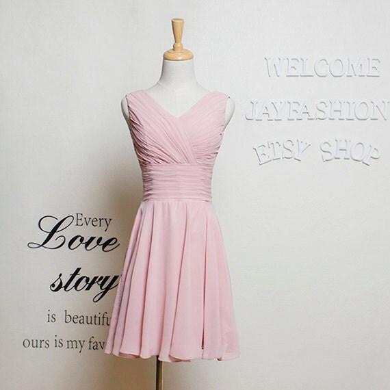 Prom dresses 2017 short formal dress/Blush Short Bridesmaid Dress/Cocktail Homecoming Dress/Fashion Chiffon evening party dress/short dress